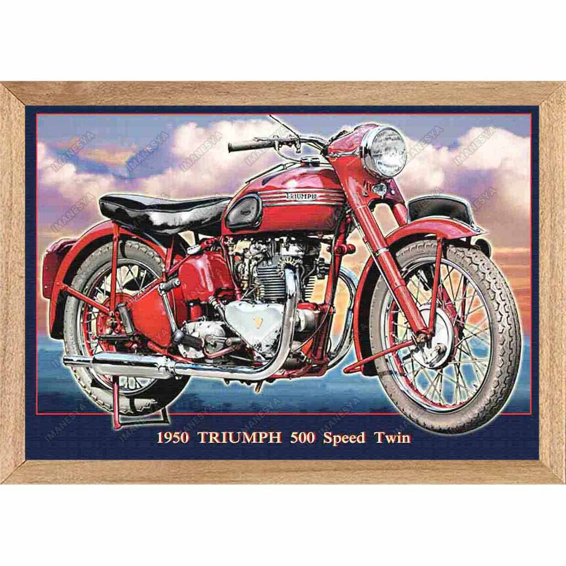 Pintura Triumph 500 Speed Twin 1950 Imanesya